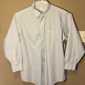 Brooks Brothers Button Down White blue stripe